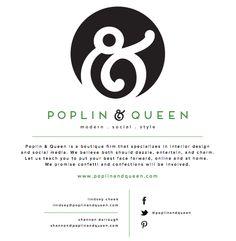 Poplin & Queen Splash Page