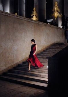 Keira Knightley for Chanel. I love this!!! The dark night in a awesome dress and just walk down the stairs like-a-boss