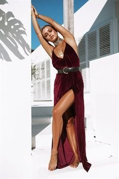Merlot Montage Maxi by SABO SKIRT