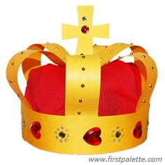 Medieval Crown craft - detailed instruction included.  Recommended by Charlotte's Clips
