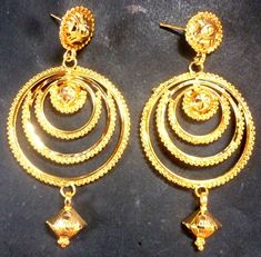 SALE Gold Plated Indian Jhumka Earrings Weddings Ring Fashion a, Gold Jhumka Earrings, Chandelier Earrings, Drop Earrings, Fashion Watches, Fashion Earrings, Costume Jewelry, Plating, Jewelry Watches, Bangles