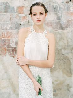 Boho Bridal Session in a Two Piece Gown | Wedding Sparrow | Gert Huygaerts Photography