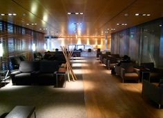 Swiss Airlines first class lounge