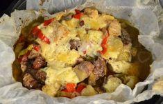 Γκιούλμπασι  - cretangastronomy.gr Cheesecakes, Baked Potato, Cauliflower, Potatoes, Meat, Chicken, Baking, Vegetables, Ethnic Recipes