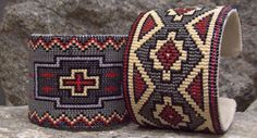 Destination/Cross and Navajo Blanket - Destination/Cross and Navajo Blanket Destination/Cross and Navajo Blanket Indian Beadwork, Native Beadwork, Native American Beadwork, Seed Bead Patterns, Beading Patterns, Seed Bead Jewelry, Beaded Jewelry, Jewellery, Beaded Cuff Bracelet