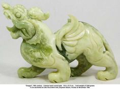 """""""Dragon"""", 19th Century Chinese Jade Carving"""