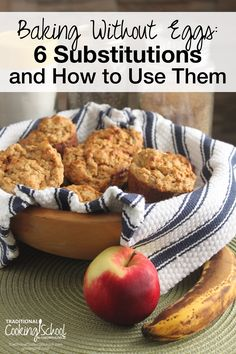 Baking Without Eggs: 6 Substitutions & How to Use Them | At a time when I spent most of my free time baking, I was told I had to give up eggs. But to bake without eggs? Was that even possible? I'm here to tell you that it's more than possible -- and easier than you might think. Although there are several egg-replacing products available, it's just as easy to create your own substitutes from ingredients you probably already have on hand. Here are 6 of my favorites, and how to use them. | T...