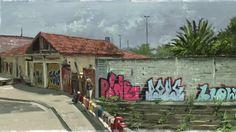 SpeedPainting of Guaianases district in Sao Paulo, Brazil. Done in PaintStorm Studio.