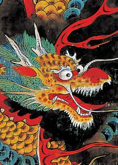 [Joseon Dynasty, 19th Century] Dragon amidst Clouds