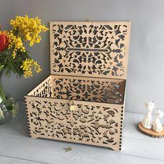 Wedding Card Box With Slot Lock Wedding money box Lockable | Etsy