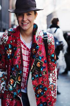 Excellent, excellent coat On the Street…..New York Fashion Week Begins, New York