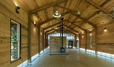 Lions Park Scout Hut RURAL STUDIO acrylic panel front and lower sides allow light; post and beam construction.