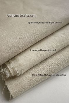 Natural Beige Linen Flax Fabric/ Linen/ Natural by fabricmade, $5.50