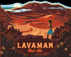 Here we have a new bottle coming from Kona Brewing Co. This is Lavaman Red Ale and I believe this was previously a draft-only beer th. Kona Brewing, Brewing Co, Fire Rocks, Hawaiian Crafts, Best Beer, Travel Posters, Good People, Craft Beer