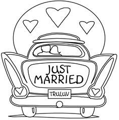 Wedding Coloring Pages, Clipart and Books