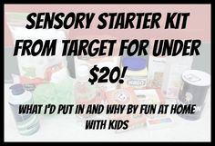 Sensory Starter Kit for under 20 dollars from Target | FUN AT HOME WITH KIDS