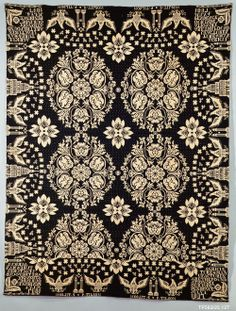 Coverlet, Agriculture & Manufactures pattern Date: 1837 Geography: Mid-Atlantic, New York, United States; Mid-Atlantic, New York Culture: American Medium: Wool and cotton, woven
