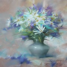 "Artist : Denis Oktyabr Russian Painter.""floral"""