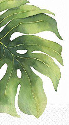 Design Design Oasis Flower Leaf Guest Towel/buffet Napkin, 15-Count Packages (Pack of 3)