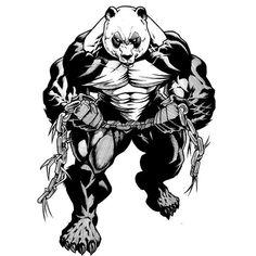 Fitness Illustrations about Arm Wrestling Gym Logo, Panda Wallpapers, Creation Art, Panda Art, Dark Art Drawings, Bear Art, The Villain, Jiu Jitsu, Martial Arts