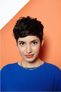 Hey, Shorty: 4 Rad 'Dos For Pixie Cuts #refinery29  http://www.refinery29.com/55218#slide-1  The Rihanna Pixie  When RiRi hit the red carpet at the 2012 VMAs, little did she know her sexy short hairstyle would become an instant classic. As Estrada demonstrates here, it looks good away from the red carpet, too!     Won Hundred shirt, stylist's own necklace. ...
