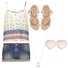 Cute summer outfit. Simple