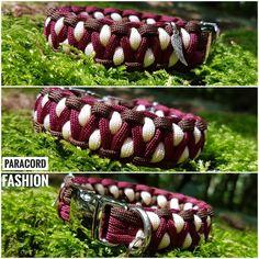 Halsband aus Paracord mit Alu Klickverschluß und Edelstahlring. Sehr gut für kleine Hunde geeignet ☺