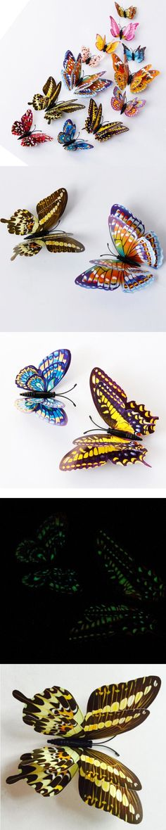 Warm Corner LM 12pcs 3D Butterfly Design Decal Art Wall Stickers Room Magnetic Home Decor, Aug 16 $1.49