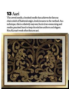 Exquisite Embroideries- AARI