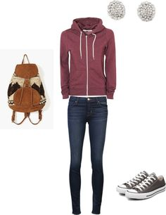 """""""school outfit"""" by nicolenickyne ❤ liked on Polyvore"""