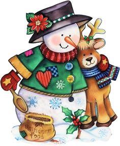 .muñe de nieve y reno