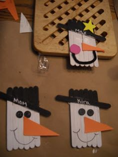 Army Wife Quilter: My 100th post - Popcycle stick snowman and a giveaway