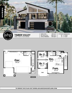 Modern Carriage House Plan Timber Valley Carriage House Plans Modern House Floor Plans House Architecture Design