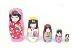 Japanese Girls nesting dolls