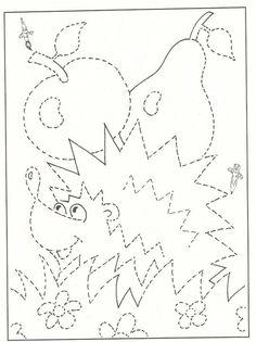 GRAFOMOTORIKA zahŕňa úroveň motorickej (pohybovej) spôsobilosti pre grafický výraz, písanie, obresľovanie, kreslenie, rysovanie. Zvládnutie grafomotorických činností je potrebné pre deti pred... Preschool Writing, Preschool Worksheets, Preschool Activities, Fall Coloring Pages, Coloring For Kids, Coloring Books, Art For Kids, Crafts For Kids, Hedgehog Craft