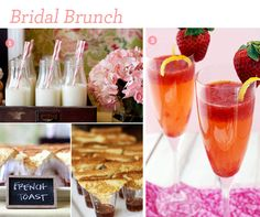 Bridal Brunch ideas!  Very cute and creative