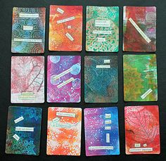Gelli Prints on Altered Playing Cards   | Lauri Jean Crowe