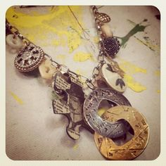Up-cycled jewelry parts