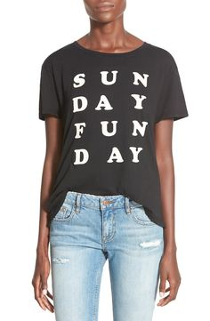 Throwing on this cute and super-soft high/low tee on the chillest day of the week.