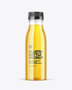 Clear Plastic Apple Juice Bottle Mockup Bottle Mockup, Juice Bottles, Apple Juice, Creative Words, Plastic Bottles, Packaging Design, Beverage, Your Design, Layers