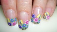 summertime Fimo Canes nail art