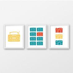 Boombox Mix Tape Retro Camera Wall Print / Three Print Set / Printable Retro Wall Art / Photography Wall Art / Musician Decor / Dorm Art by PrintableRemedy on Etsy https://www.etsy.com/listing/570396802/boombox-mix-tape-retro-camera-wall-print