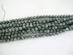 Seraphinite round beads 6mm, Gemstone beads, Natural Seraphinite, Healing stone by Susiesgem on Etsy