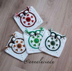 Crochet owl crochet applique crochet by Crochet Owls, Crochet Daisy, Crochet Gifts, Crochet Patterns, Crochet Ideas, Margarita Crochet, Owl Blanket, Cute Owl, Crochet Projects