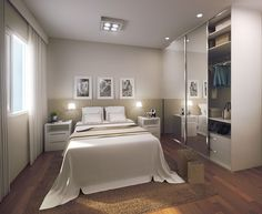Projeção artística do quarto - planta tipo 2. San Giovanni