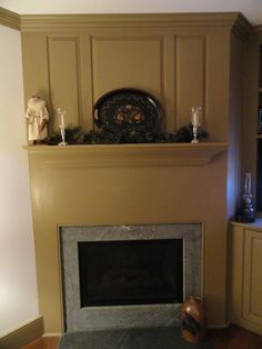 Old Village Pearwood on mantel