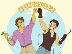 SCIENCE BROS by =temporary-glitch on deviantART - @Rebekah Lutz, I'd totes see this movie!
