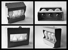 Light Bulb Packaging by Charlotte Ziob, via Behance