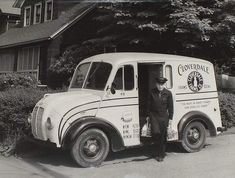 A early 1950's Cloverdale Farm's Divco milk truck making a home delivery in Binghamton, NY This picture was submitted by Dave Petrozello