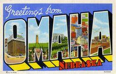 Todos os tamanhos | Greetings from Omaha, Nebraska - Large Letter Postcard | Flickr – Compartilhamento de fotos!